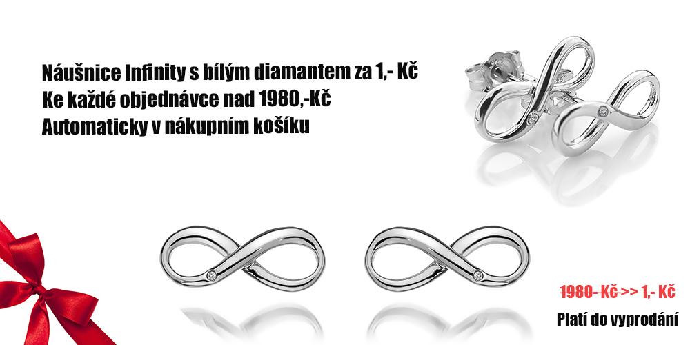 Infinity náušnice za 1,-Kè