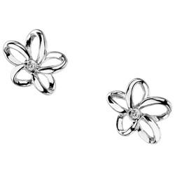 Náušnice. Náušnice s krystaly Swarovski. Ocelové náušnice.